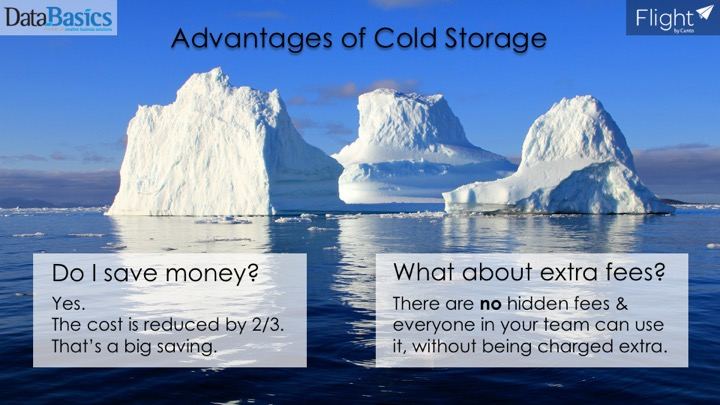 Video 1 Hot vs cold storage - this video shows the difference & Advantages of Cold Storage in Flight - DataBasics